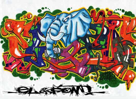elefont graffiti