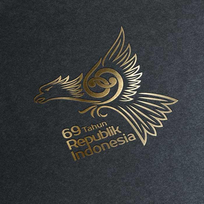 Logo HUTRI ke-69 Emas