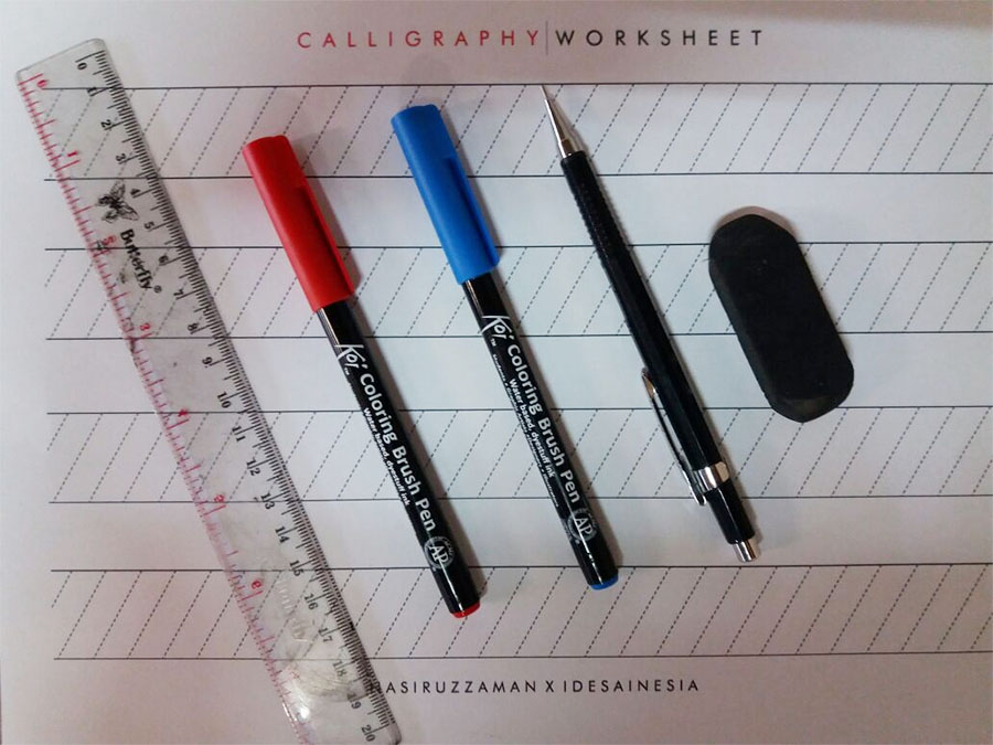 calligraphy tools