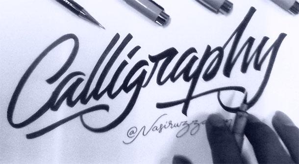 tutorial dasar belajar kaligrafi dengan brush pen